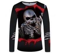 Marškinėliai ilgomis rankovėmis Steel Skull; L, XL