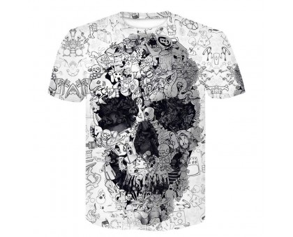 Marškinėliai trumpomis rankovėmis White Skull; L, XL