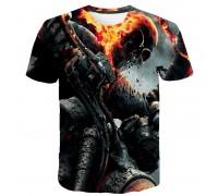 Marškinėliai trumpomis rankovėmis Ugninis baikeris; M