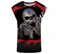Marškinėliai be rankovių Steel Skull; L