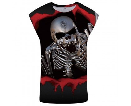 Marškinėliai be rankovių Steel Skull, L