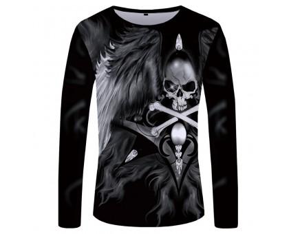 Marškinėliai ilgomis rankovėmis Jolly Roger; XL