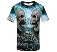 Marškinėliai trumpomis rankovėmis Žaibo kaukolės; XL