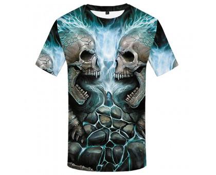 Marškinėliai trumpomis rankovėmis Žaibo kaukolės, XL
