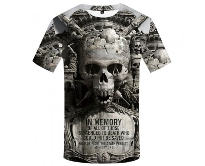 Marškinėliai trumpomis rankovėmis Stone Skull; XL