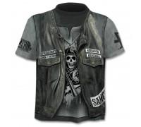 Marškinėliai trumpomis rankovėmis Odinė liemenė, XL
