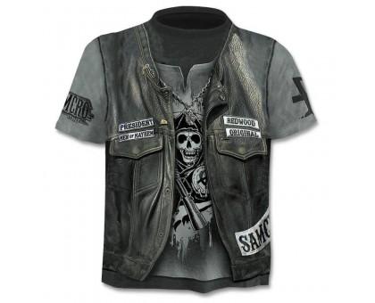 Marškinėliai trumpomis rankovėmis Odinė liemenė; XL