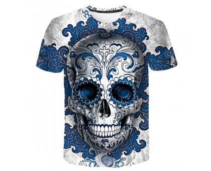 Marškinėliai trumpomis rankovėmis Ornamentas Blue; XL