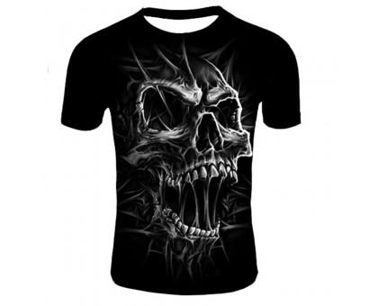Marškinėliai trumpomis rankovėmis Smoke skull, XL