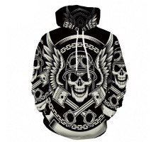 Bluzonas su gobtuvu Mechanic Skull; L