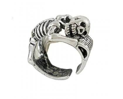 Žiedas Lazy Skull Silver, universalaus dydžio