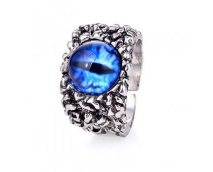 Žiedas Snake Eye Blue, universalaus dydžio