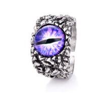 Žiedas Snake Eye Violet, universalaus dydžio