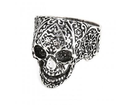 Žiedas Flower Skull, 19.5, 20, 20.5
