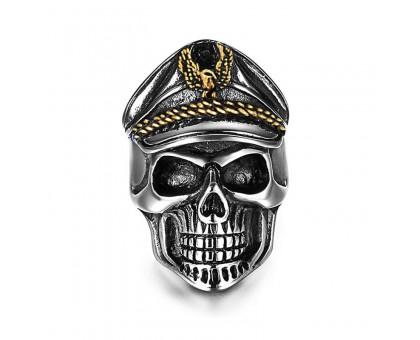 Žiedas Officer Skull; universalaus dydžio